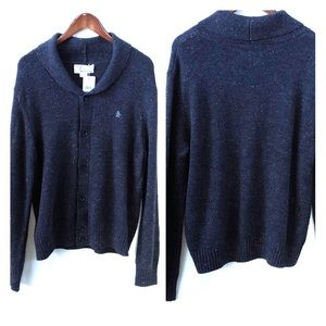 Original Penguin Munsingwear size XL Grey Cardigan
